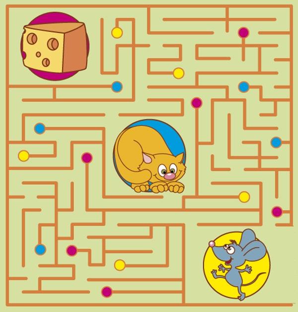 лабиринт кошка мышка