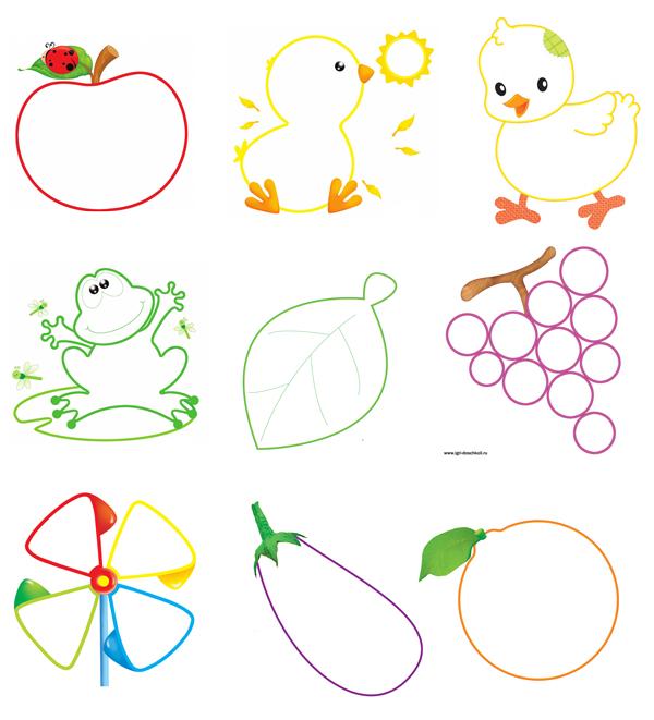 раскраска для малышей