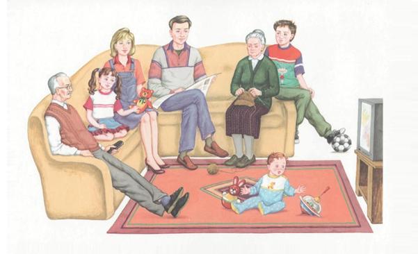 семья уютный вечер