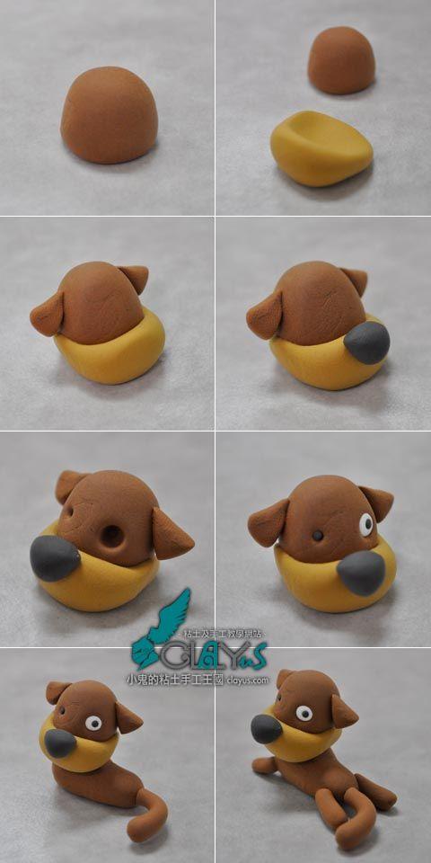 собачка инструкция фото как лепить