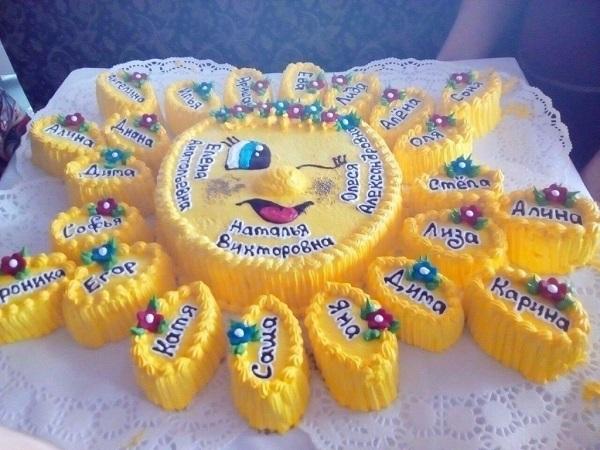 торт на выпускной в детский сад