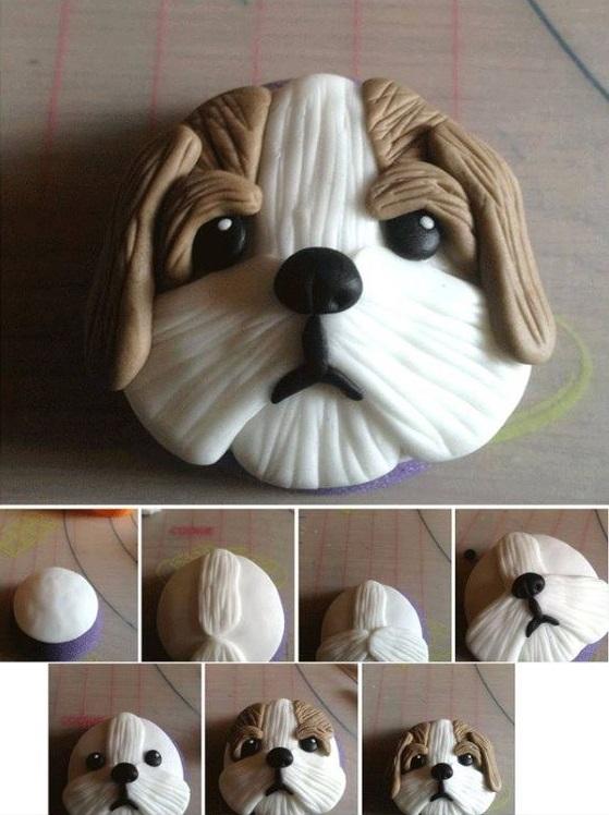 как сделать собаку для торта