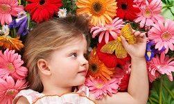цветы букет девочка