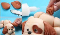 собака из пластилина фото инструкция пошагово