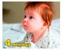 Рост и вес ребенка 4 месяца