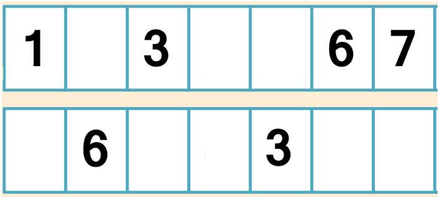 числовой ряд до 7