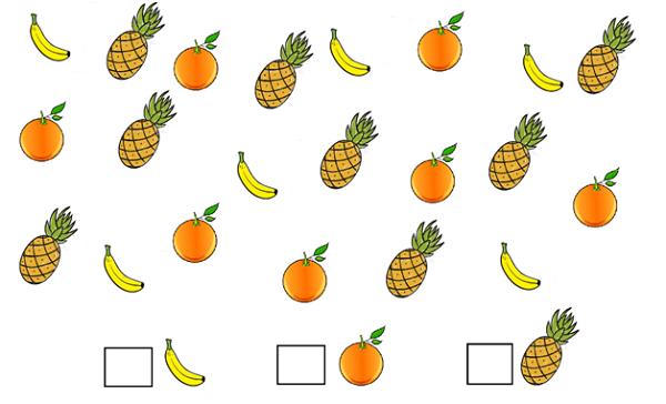сосчитай фрукты
