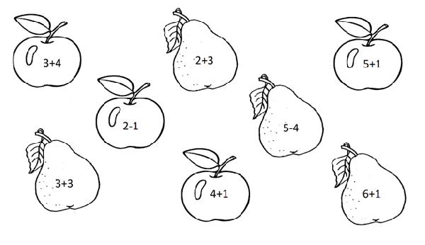 сосчитай яблоки