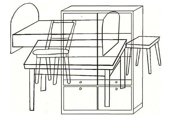 какие предметы мебели спрятались на рисунке