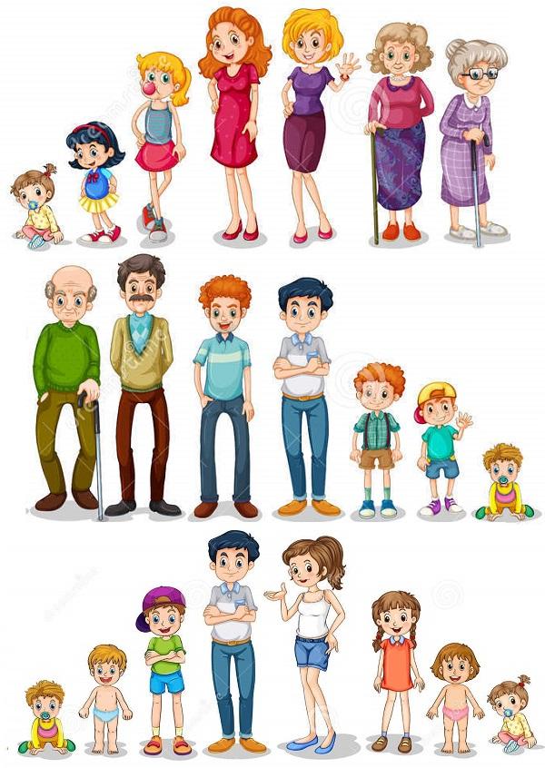 люди семья