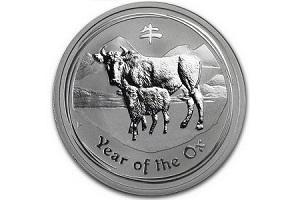 бык белый монета