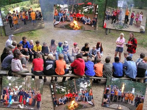 дети в лагере