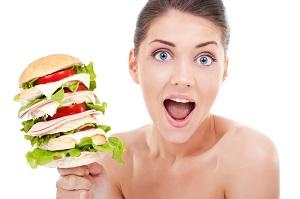 девушке как набрать вес