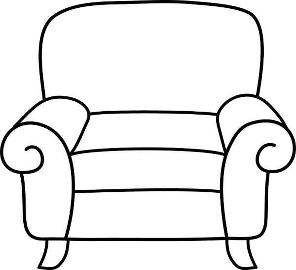 кресло раскраска
