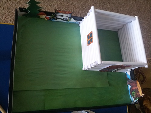 домик из бумаги 1