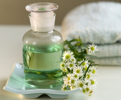 Aromatherapy Jar and Flowers