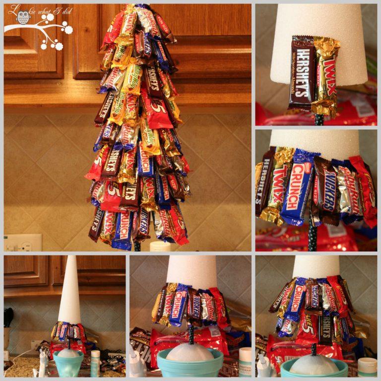 елка из шоколадок