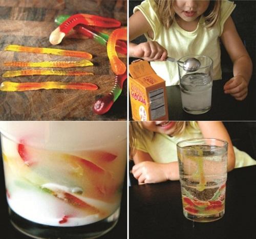 фокус для детей червячки