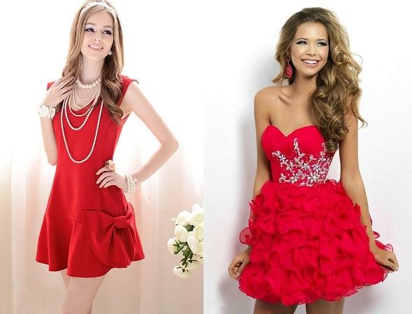 красные платья на новый год
