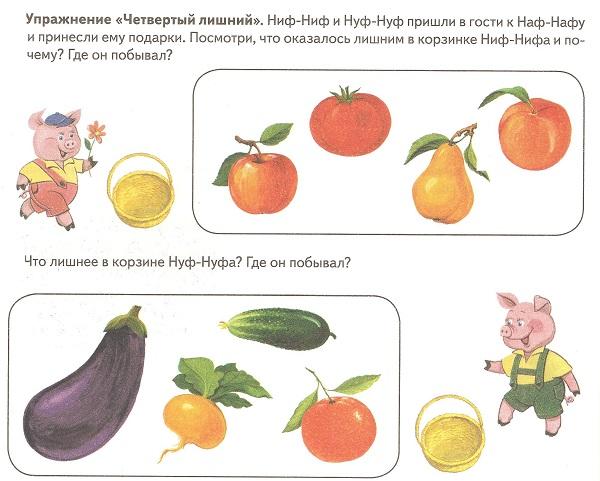 фрукты овощи что лишнее
