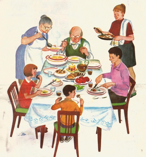 тема семья обед