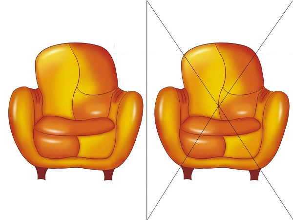 кресло на 4 части