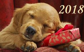 Всех с новым годом 2018 собаки картинки