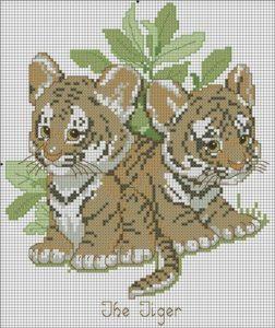канва бисер 2022 тигрята