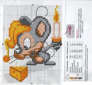 канва мышь 6