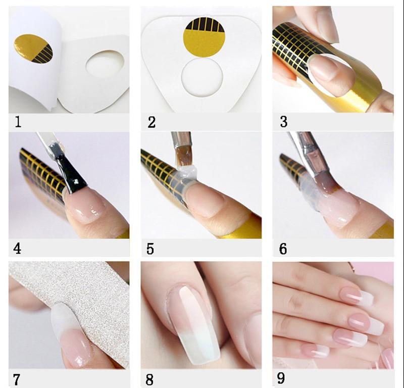 картинки инструкция как делать наращивание ногтей