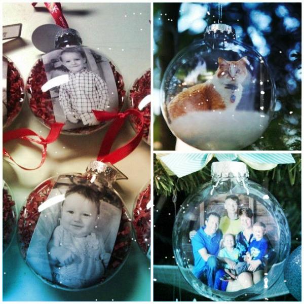 новогодний шарик с фото