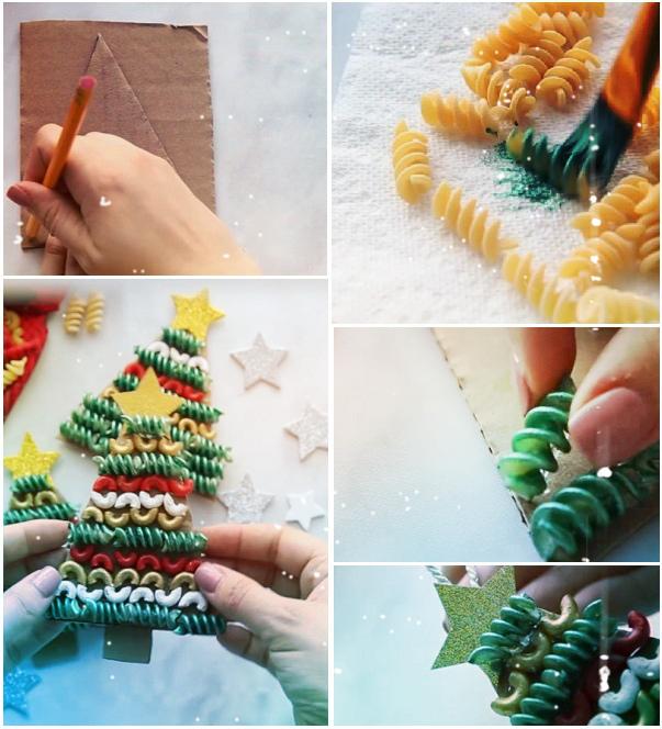 новогодняя упаковка макароны своими руками