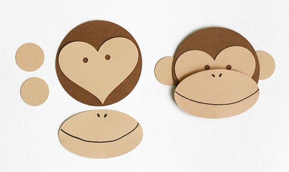 обезьяна из бумаги просто