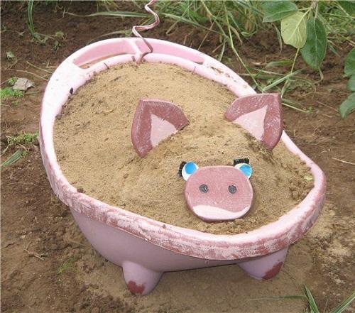 песочница на даче 1