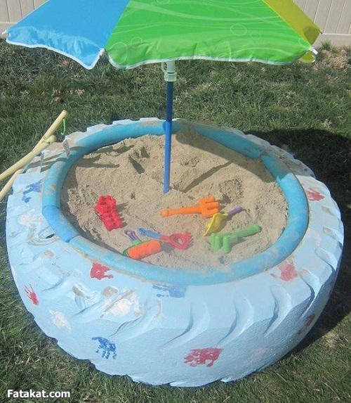песочница на даче 3