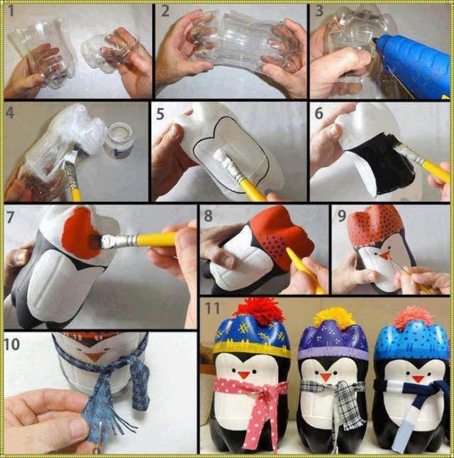 пингвин из бутылки пластик