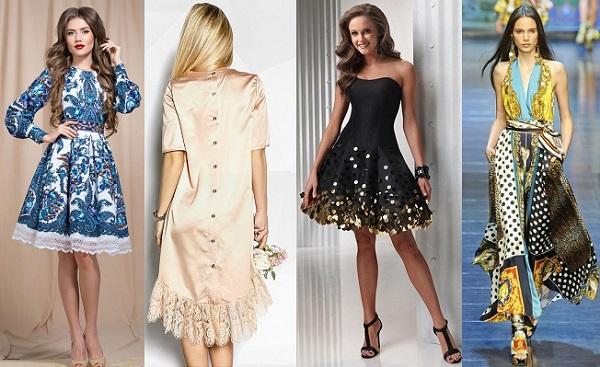 платье платок пуговицы
