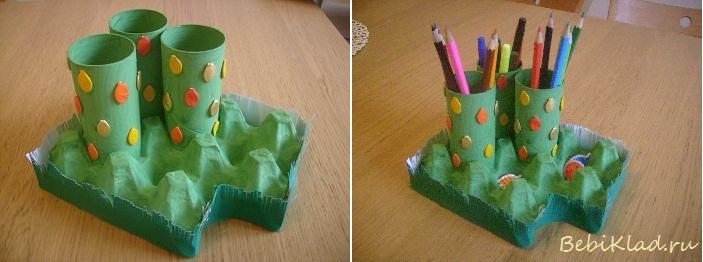 Подставка из картона для поделок из пластилина своими руками
