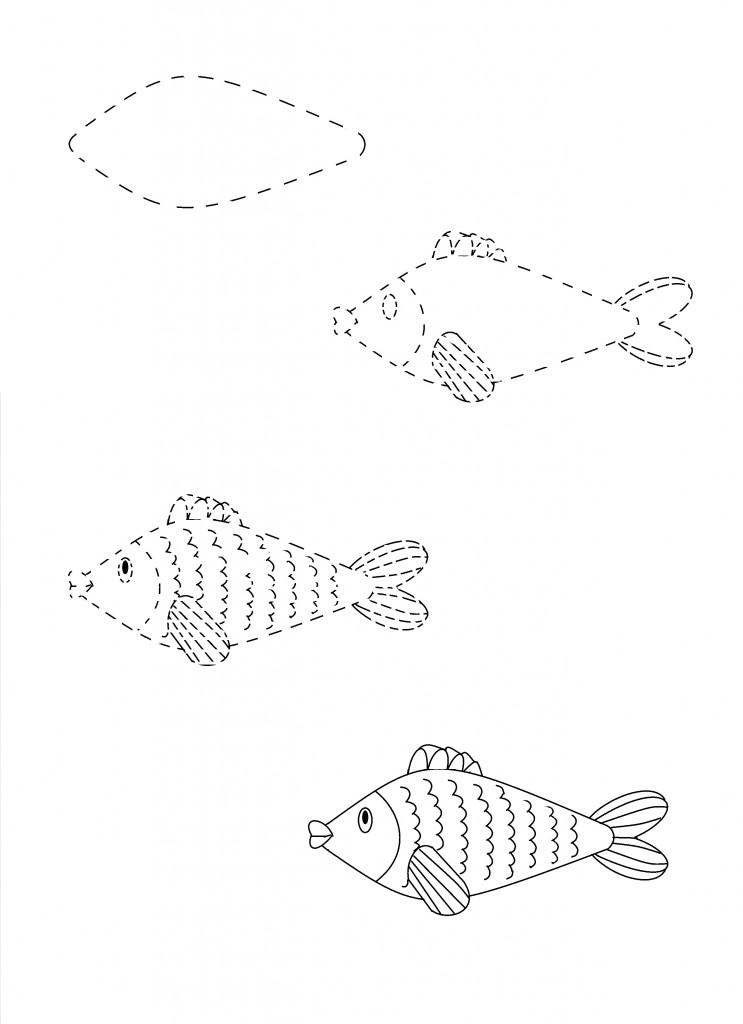 рисунок рыбка