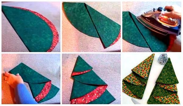 салфетка елочка ткань