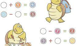 математика задания 6 лет