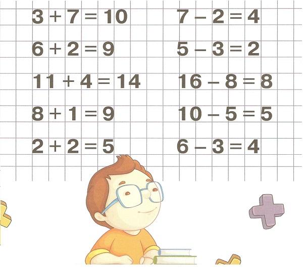 математика 6-7 лет найди ошибку