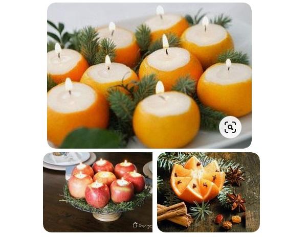 свечи украшение стола