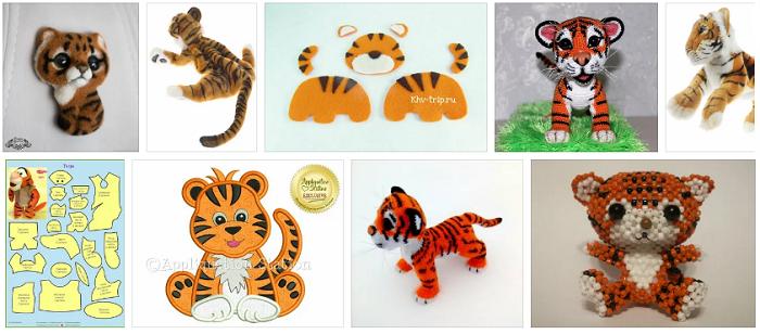 тигрята смвоими руками