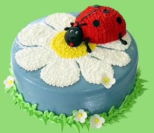 торт с божьей коровкой