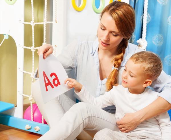 Помощь при изучения алфавита