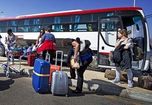 туристический автобус в боровое