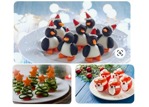 украшение новогоднего стола блюда