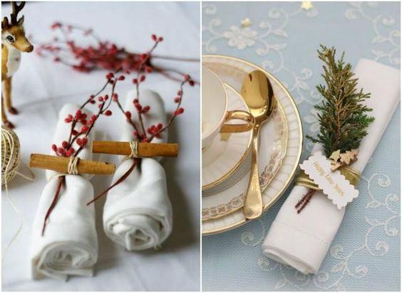 украшение новогоднего стола тарелки