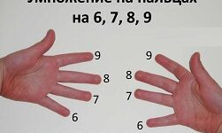 умножение на пальцах точно